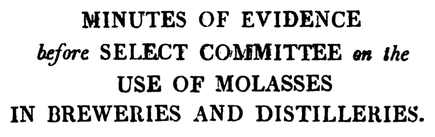 More about molasses