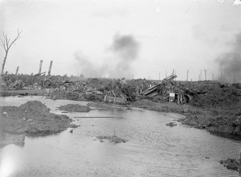 Gun battery near Langemarck 12 Oct 17