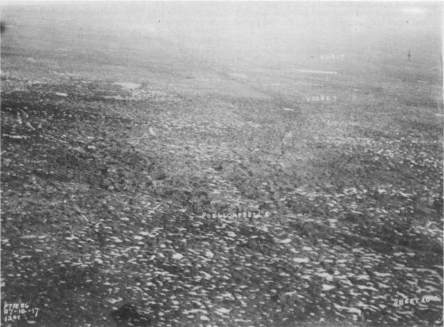 Poelcapelle from the air 27 Oct 1917