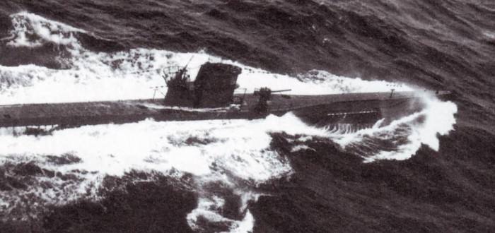 U-621 in 1943, shortly before she was sunk