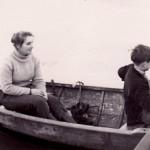 Janet Harker teaching R.E.K. to row.