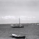 'Polly' anchored off Mill Beach.