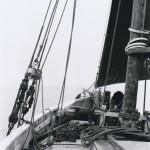 'Sallie' on deck.