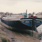 SB Memory, unrigged, in Salcote Creek, April 1967